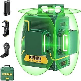 comprar comparacion POPOMAN Nivel Láser Verde 45m, 3x360° Profesional Línea Laser, USB Carga, Autonivelación, Función de Pulso, bolsa de trans...