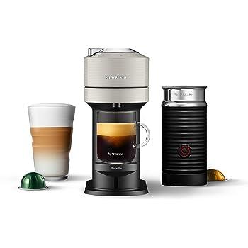 Nespresso Vertuo Next Coffee and Espresso Machine with Aeroccino NEW by Breville, Light Grey, Single Serve Coffee & Espresso Maker, One Touch to Brew