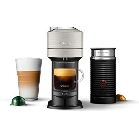 Nespresso BNV550GRY Vertuo Next Espresso Machine with Aeroccino by Breville, Light Grey