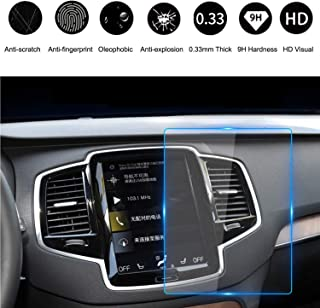 HiMoliwa 2017-2019 Volvo Car Navigation Touch Screen Protector for V90 XC40 XC60 XC90 S90 9 Inch, Scratch-Resistant Ultra HD in-Dash Clear Tempered Glass Screen 9H Hardness 0.33mm Thickness(9in)