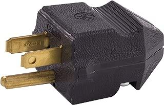 GE 54301 15A 125V Household Grounding Plug, Black