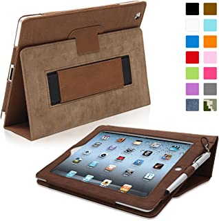 Snugg iPad 2 Case - Smart Cover with Kick Stand & (Distressed Brown Leather) for Apple iPad 2