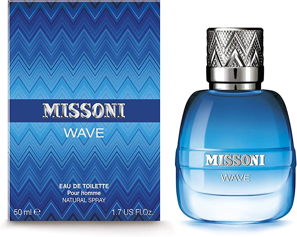 Missoni wave eau de toilette natural per uomo, spray ,50 ml