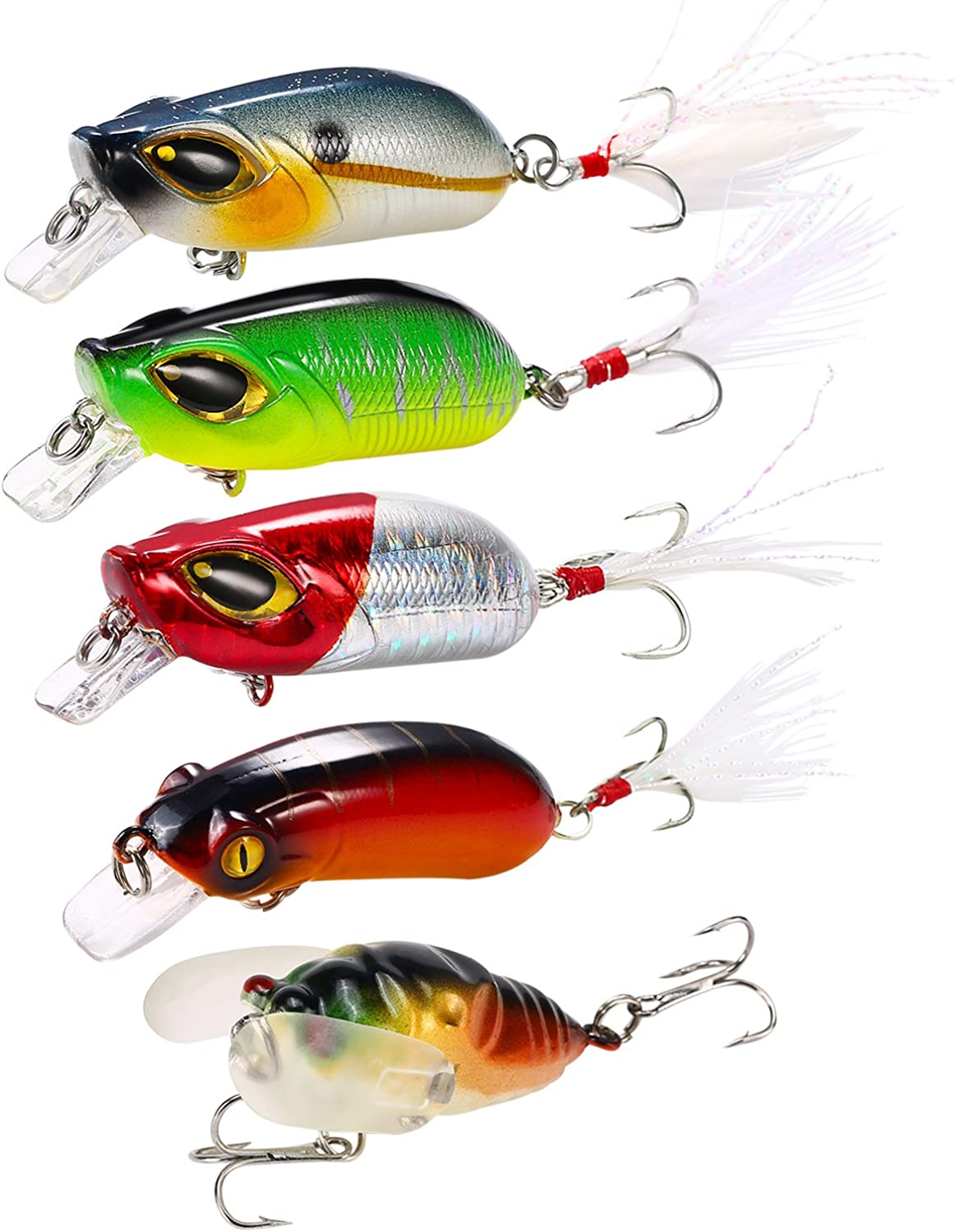 Hpory Freshwater Saltwater Salmon Trout Lures Fishing Bass