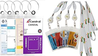 Cruise Luggage Tags with FREE Retractable Lanyards (4 Pack + 4 ID Holder)