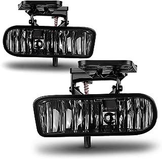 AUTOSAVER88 Fog Lights 899 12V 37.5W Halogen Lamp for GM095 /1999-2002 GMC Sierra/ 2000-2006 GMC Yukon Pickup Truck SUV (Smoke Lens)