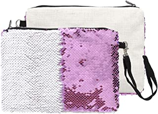 Bageek Women Makeup Bag Toiletry Bag Glitter Sequin Portable Multi Purpose Makeup Pouch for Girl