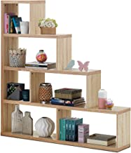 """Tangkula 4-Shelf Ladder Corner Bookshelf, Modern & Simple Style Storage Bookcase, 61""""L x 11""""W x 64""""H, 4-Layer Ample Storage Space for Home Furniture, Wooden Storage Bookcase (Natural)"""