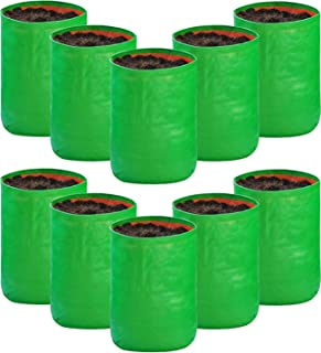 SCOTMEN Grow Bags Green ,12 x 18 Inches, 10 Pieces