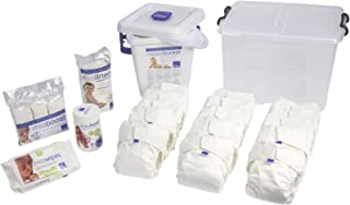 Bambino Mio, Miosolo Cloth Diaper Premium Birth to Potty Pack, OneSize, White