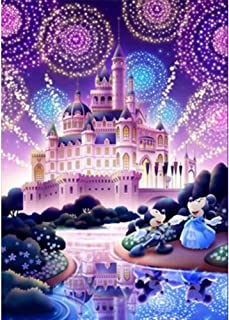 KERIQI 5D DIY Diamond Painting by Number Kits, Crystal Rhinestone Embroidery Pictures Arts Craft for Home Wall Decor - Cute Mickey Mouse 11.8 x 15.7 Inch