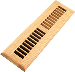 Accord AOFROLL212 Floor Register with Oak Louvered, 2-Inch x 12-Inch(Duct Opening Measurements), Light Finish