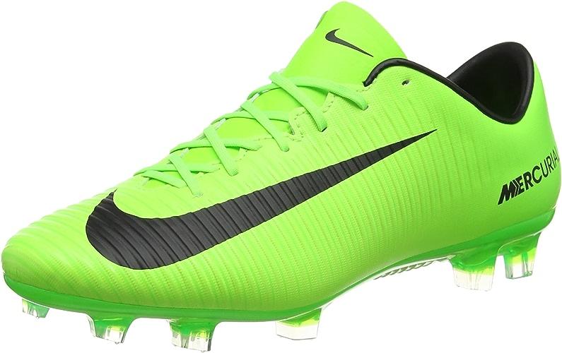 Nike de Chaussures EU Mercurial Football Homme Vert Veloce III FG (Electric vert noir Flash Limeblanc)