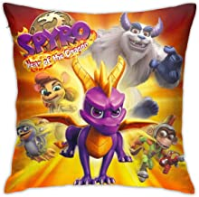 Spyro-reignited-Trilogy-Art-ps4.webp Square 18x18 Inches Decorative Pillowcases, Throw Cushion Cover with Zipper for Bedroom Living Room Sofa Home Decor