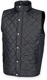 Front Row Men's Diamond Quilted Gilet