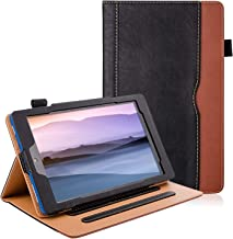 ZoneFoker All New Kindle Fire 7 Tablet Leather Case (9th/7th Generation,2019/2017 Released), [Corner Protection][Auto Sleep/Wake] Lightweight Multi-Angle Viewing Folio Stand Cover Cases – Black/Brown