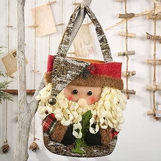Christmas Gift Bags Cute Lovely Santa Claus Snowman Deer Candy Bag for Kids Kindergarton Gifts (Santa Claus)