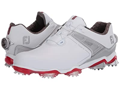 FootJoy Tour X (White/Grey/Red Trim) Men