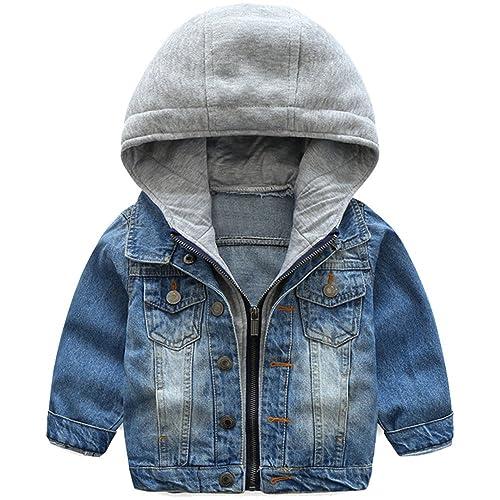 Mallimoda Bambina//Ragazze//Ragazzi Giacca di Jeans Primavera Casuale Giubbotto Denim Cappotto Tops