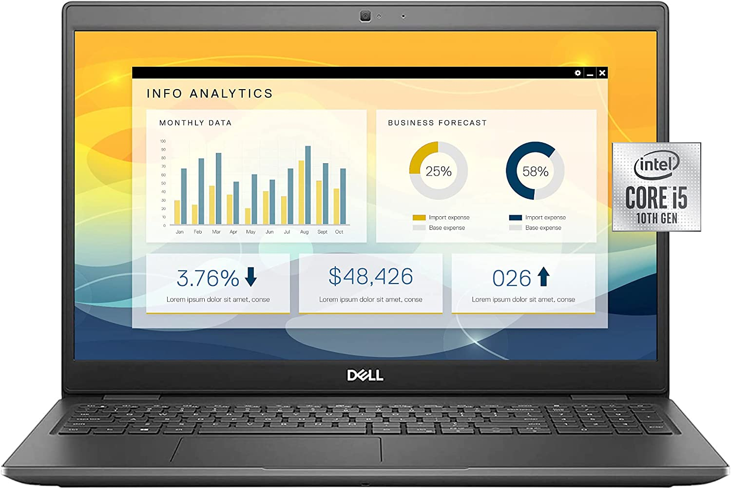 Dell Latitude 3510 High Performance Business Laptop, 15.6