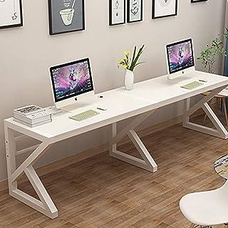 Extra Large Deux Personnes Bureau D'ordinateur,87 Pouces Double Bureau Poste De Travail,2 Personnes Domicile Table De Bure...