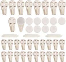 33 Pieces White Non-Trace Hard Wall Hanger Hook Picture Hanger Set