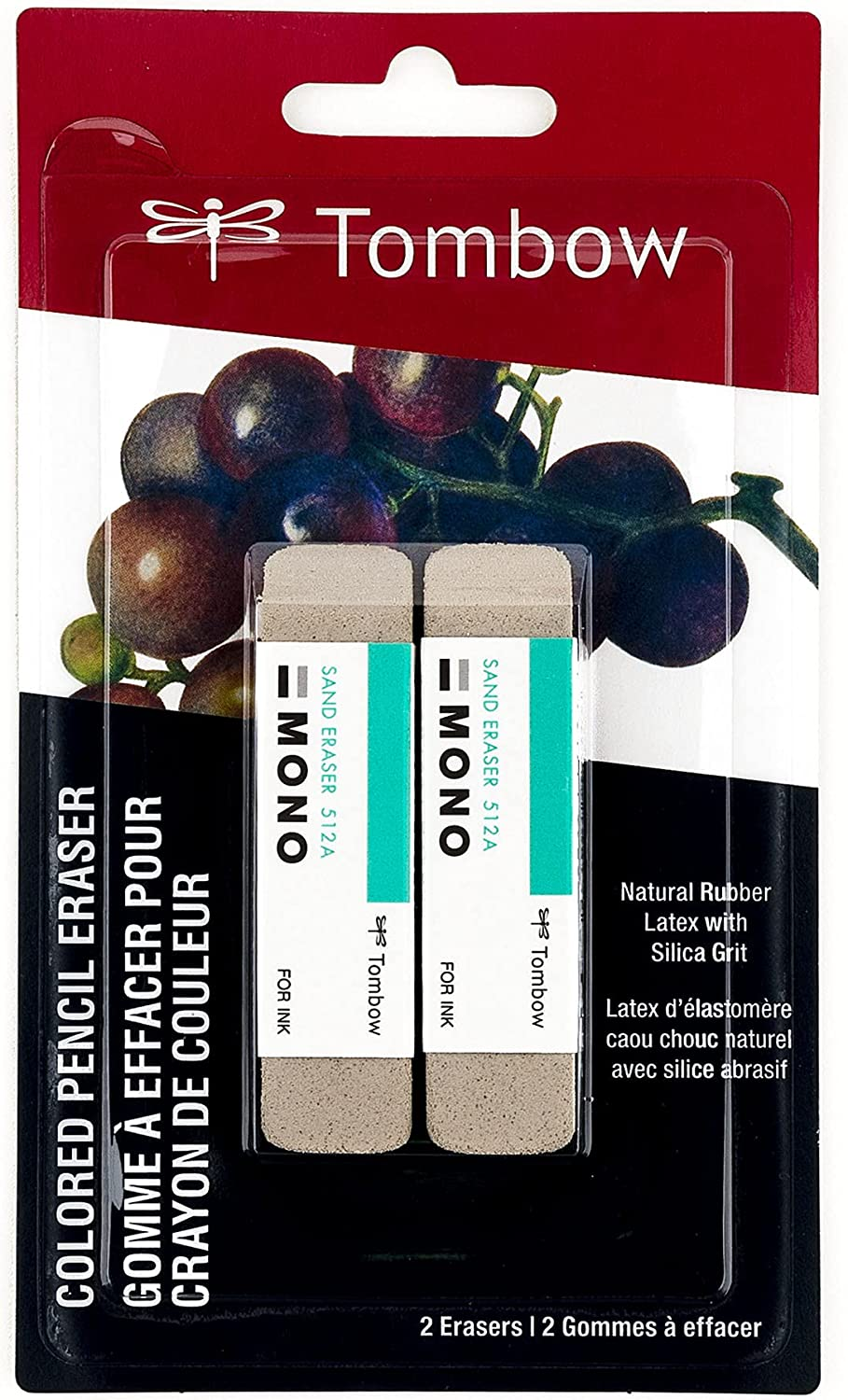 Tombow 67304 MONO Sand Dealing full price reduction Eraser to Designed Direct store Silica 2-Pack.
