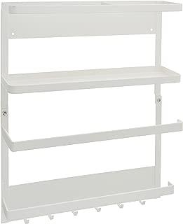 YAMAZAKI home 2560 Plate Kitchen Rack-Magnetic Storage Holder & Organizer, White