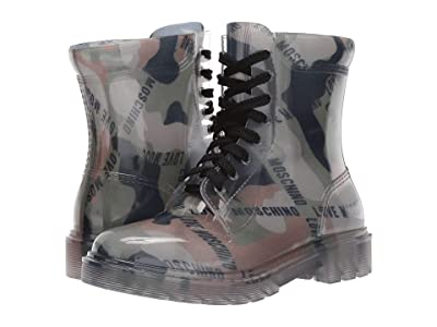 LOVE Moschino Ankle Boot (Military Green Camo) Women