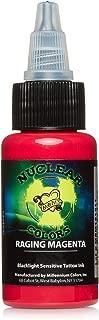 Millennium Mom's Nuclear UV Tattoo Ink .5 Ounce Raging Magenta Ultra Violet 1/2 oz
