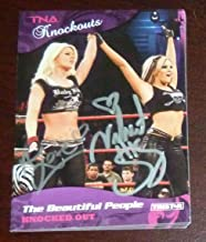 Angelina Love Velvet Sky Signed 2009 Impact TNA Card Knockouts #20 Auto - Tristar Productions Certified