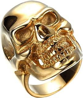 HIJONES Men's Jewelry Stainless Steel Skull Ring