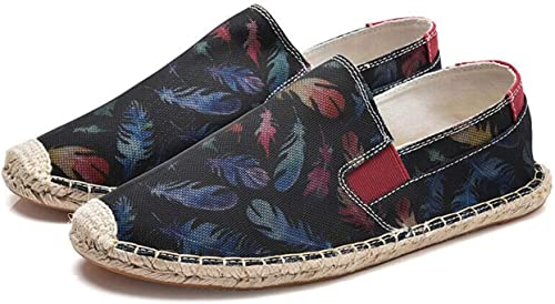 Summer Pour des hommes Printing Printing Décontracté Outdoor Slip on Loafers Canvas Fisherman chaussures New  grosses économies