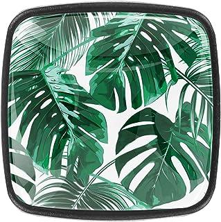 Feuilles de palmier tropical 4 PCS Tiroir de Porte Poignée, Bouton de Meubles, Boutons de Tiroir, Boutons de Porte, Poigné...