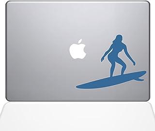 "The Decal Guru Catching Some Waves Decal Vinyl Sticker, 13"" MacBook Pro (2016 & Newer Models), Light Blue (1455-MAC-13X-LB)"