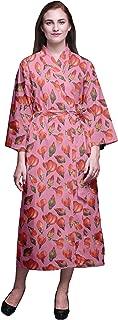 Bimba Kimono Bathrobe Women Printed Kimono Robe for Girls Crossover Robes Bathrobe for Girls