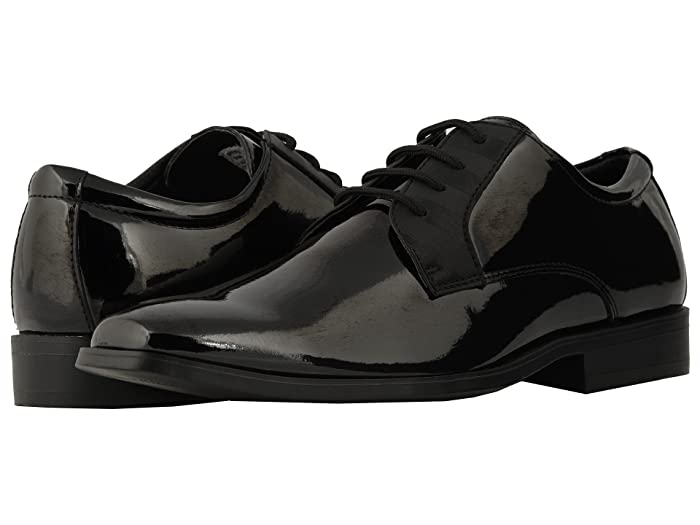 Stacy Adams Gala White Cap Toe Oxford Patent Leather Lined Tuxedo Dress Shoes