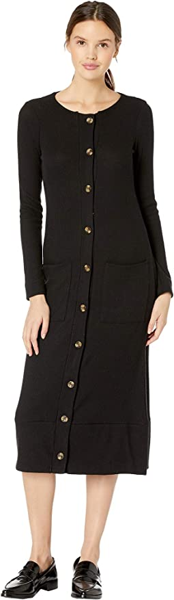 Love Rib Button Front Duster with Pockets