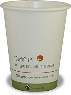Planet + 100% Compostable PLA Laminated Hot Cup, 8-Ounce, 1000-Count Case