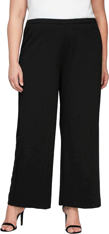 Alex Evenings Women's Size Black Crepe Plus