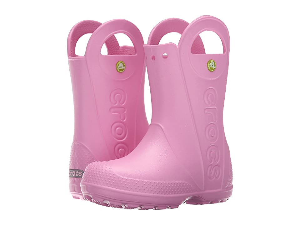 Crocs Kids Handle It Rain Boot (Toddler/Little Kid) (Carnation) Kids Shoes