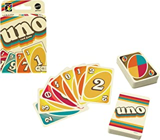 UNO Iconic Series 1970s Matching Card Game Featuring Decade-Themed Design, 112 Cards for Collectors, Teen & Adult Game Nig...