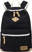 cute black canvas backpack