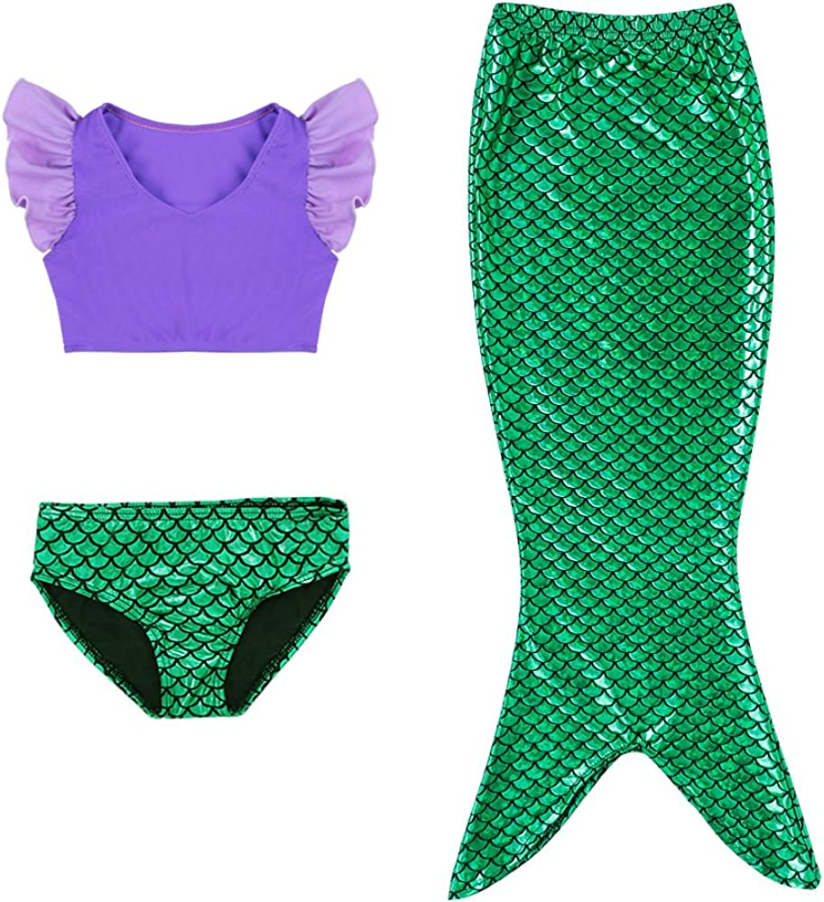 3Pcs Mermaid Tail for Baby Suits Bathing 100% quality warranty A surprise price is realized Girls Swimming