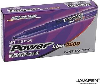 JAVAPEN rainbow pastel Highlighter brush Chisel Tip Pens (Fluorescent Purple, 12-Count)