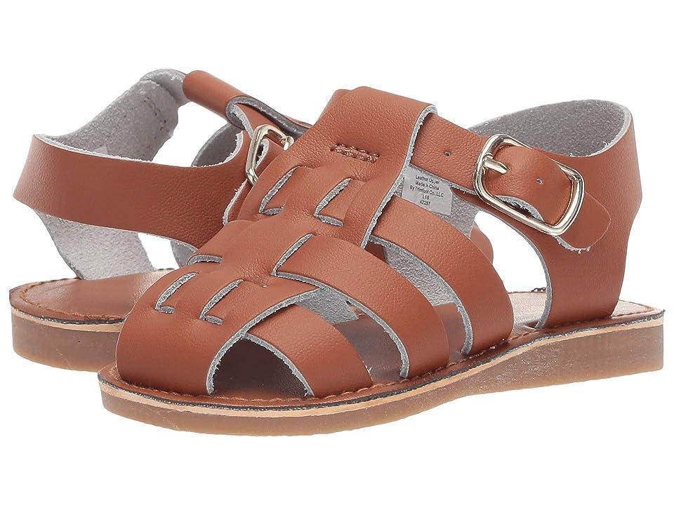Baby Deer Leather Fisherman Sandal Walk (Infant/Toddler/Little Kid) (Tan) Boys Shoes