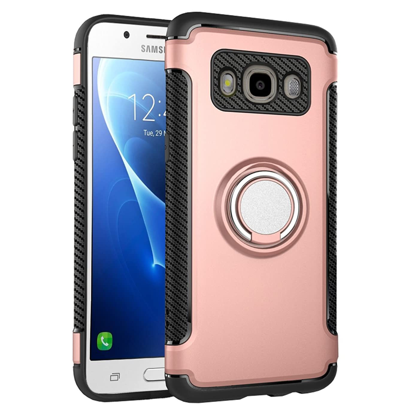 Galaxy J5 2016 Case Ring Kickstand Holder, UBERANT 360 Adjustable Ring Grip Stand & Built-in Soft TPU Shock-absorption Protection Cover Case for Samsung Galaxy J5 2016 J510 5.2