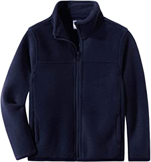 Spring&Gege Youth Solid Full-Zip Polar Fleece Jacket for Children