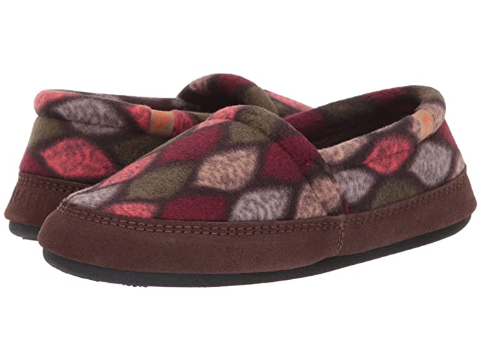 Acorn   Moc (Brown/Pink Leaves) Womens Moccasin Shoes
