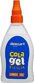 Cola Escolar Gel, Mercur B01010902036, Transparente, 90 g, Pacote de 6